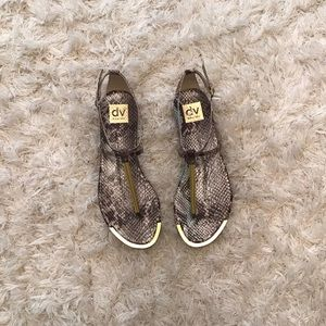Dolce Vita Snakeskin Sandals